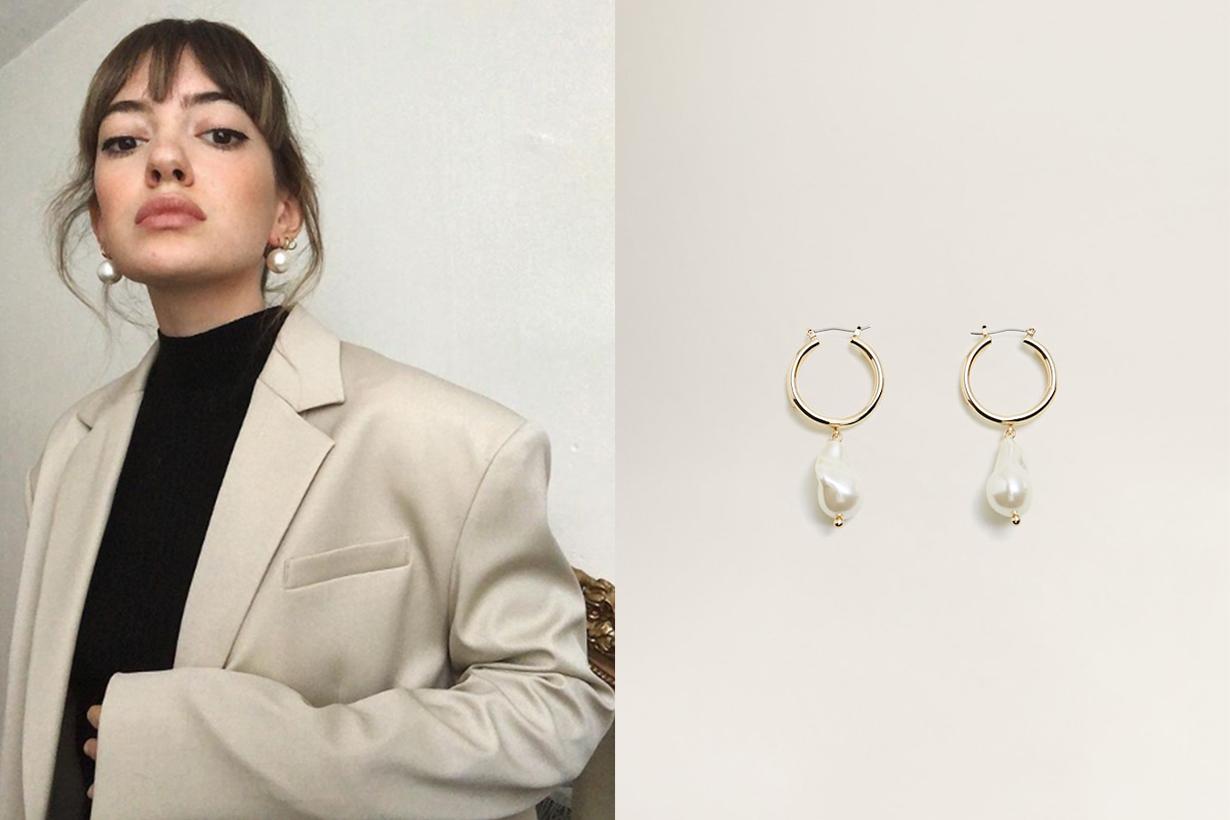 Mango Pearl Hoop Earrings