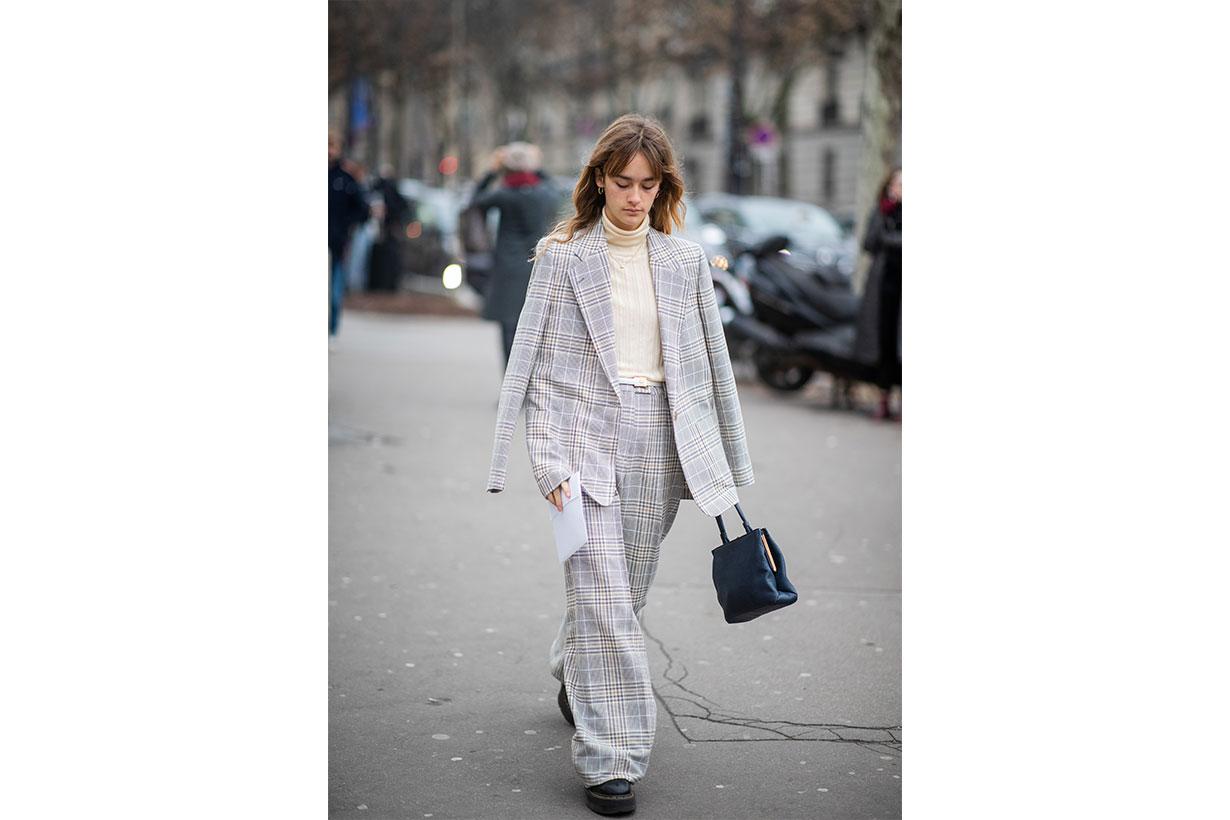 Plaid Street style 2019 fashion week