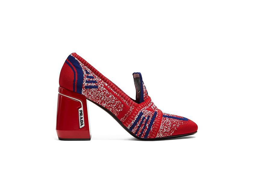 Prada Jacquard Loafers