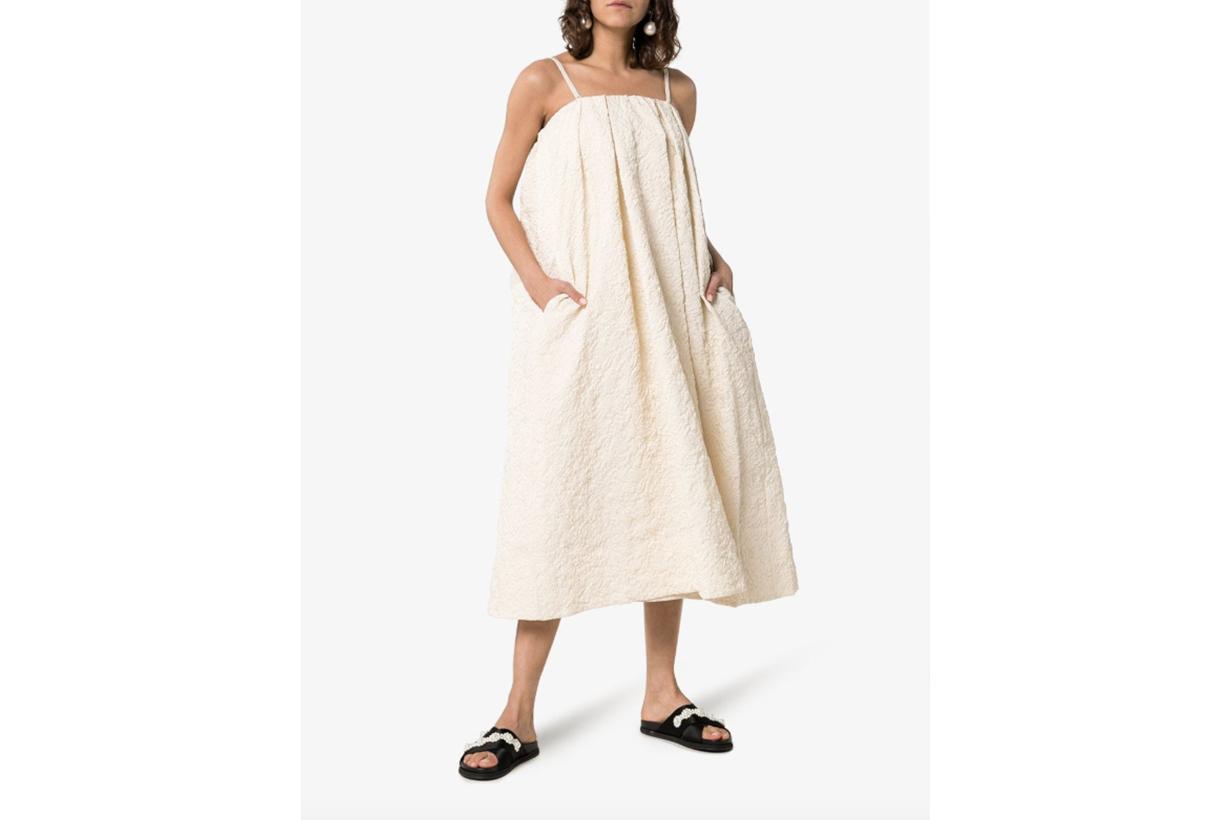 Simone Rocha Paper Floral Midi-Dress