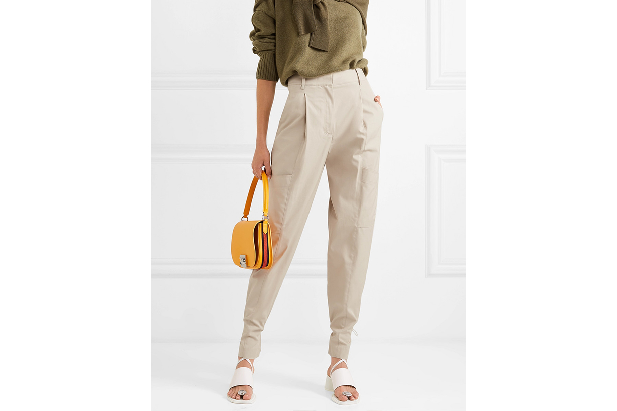 Tibi Finn Cotton-twill Tapered Pants