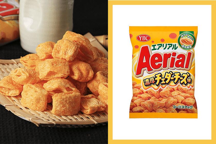 YBC Aerial Corn Snack Rich Cheddar Cheese