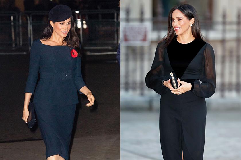 Meghan-Markle style Givenchy dress black navy