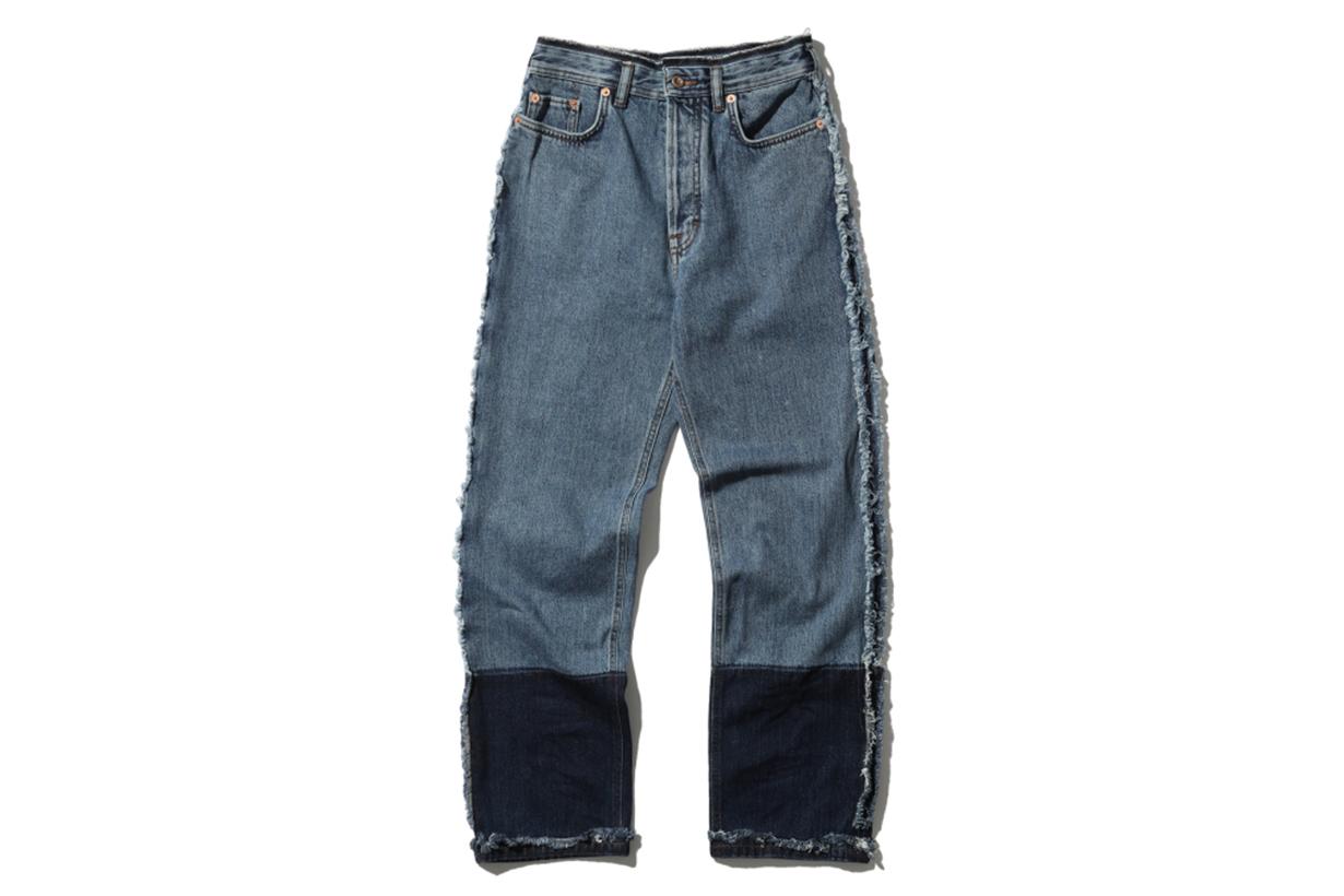 Acne Studios Frayed Trim Panelled Jeans