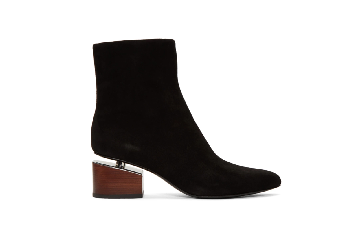 Alexander Wang Black Suede Kirby Boots