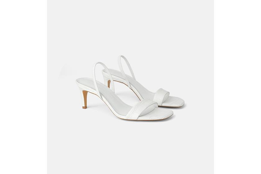 Zara Animal Print Leather Heeled Sandals