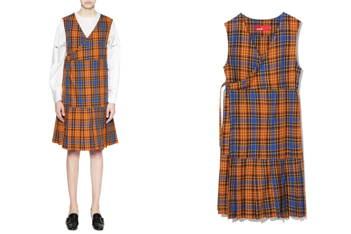 b+ab Plaid Wrap Dress