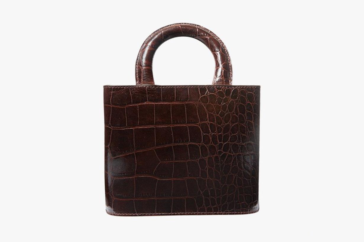 staud leather tote