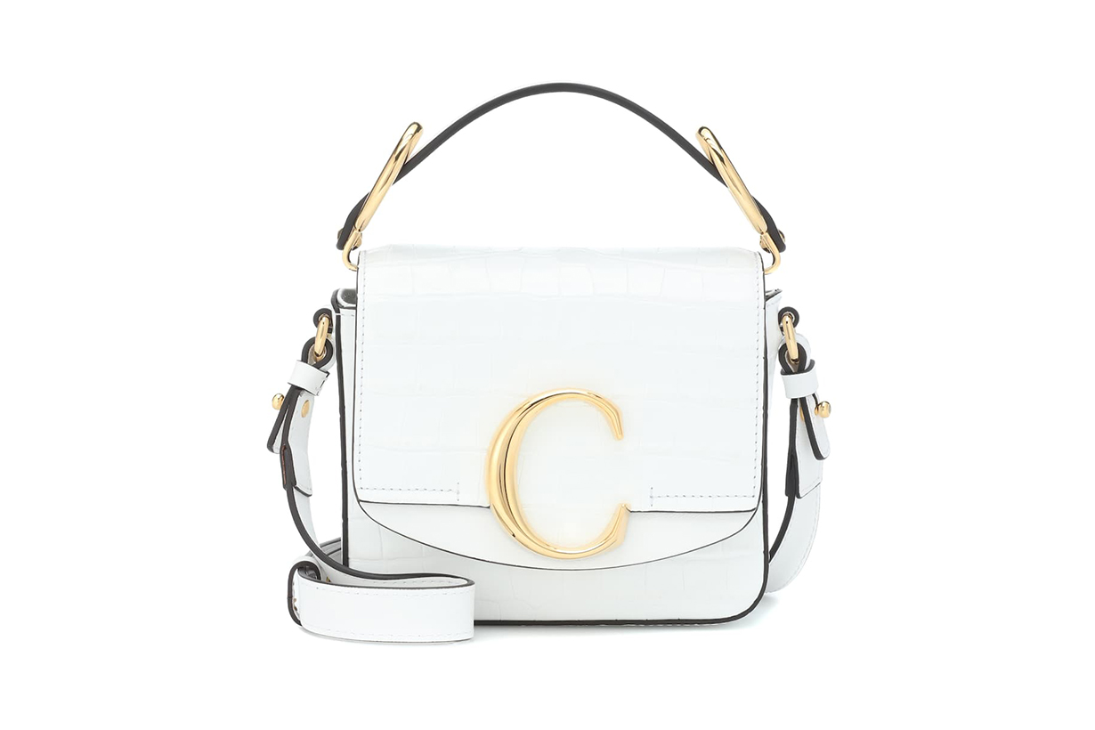 Chloé Chloé C Mini Leather Shoulder Bag