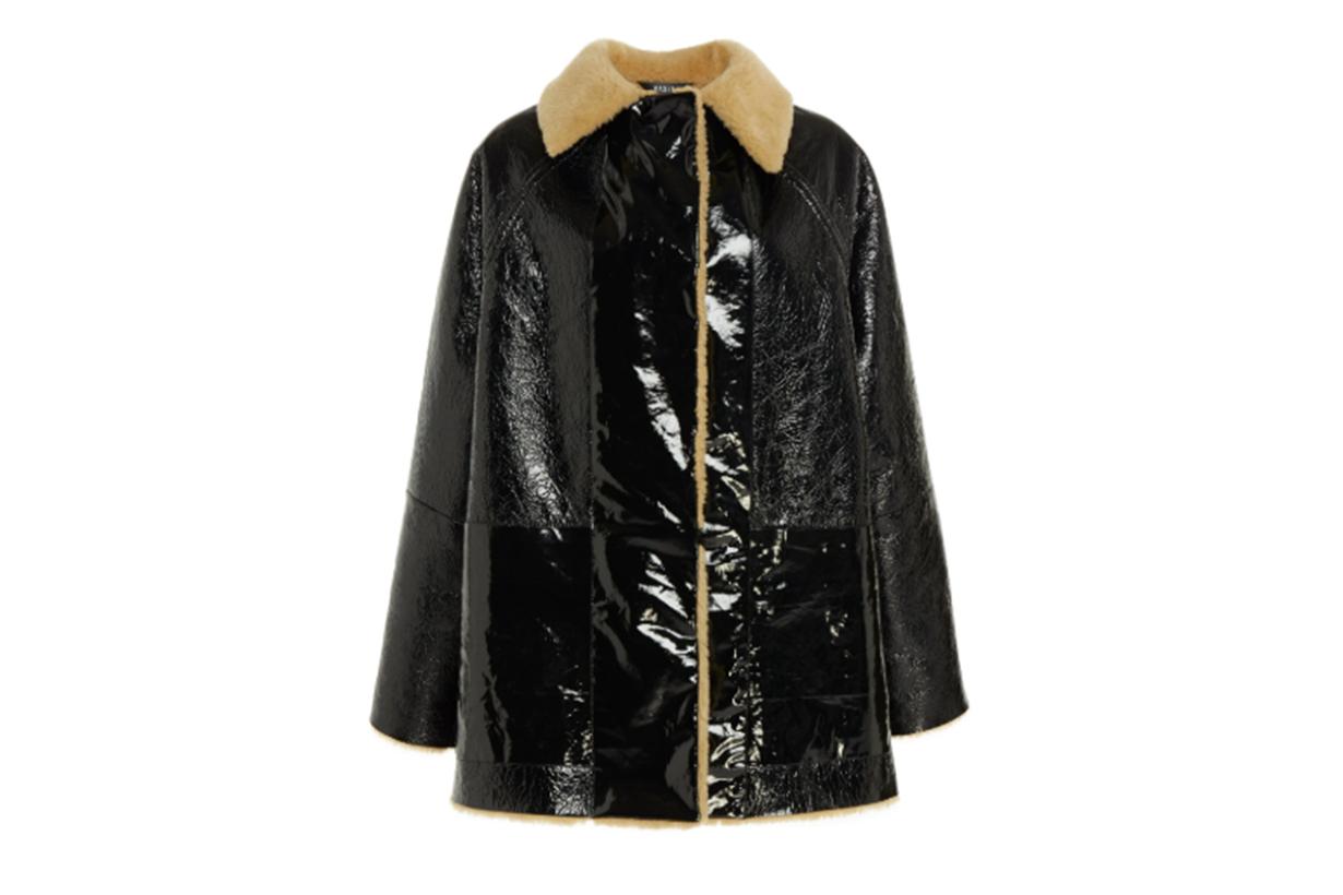 Kassl Reversible Lacquer Shearling Jacket