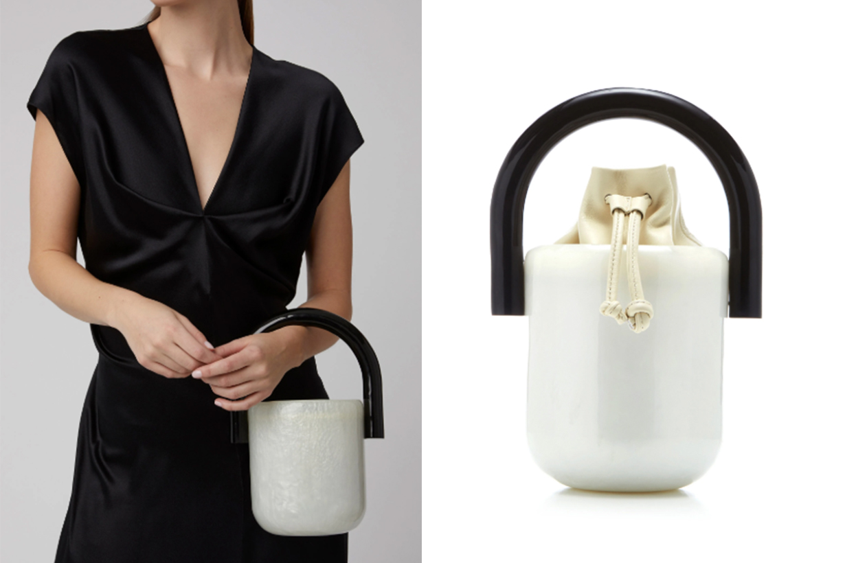 Cult Gaia Olivia Acrylic And Leather Bucket Bag