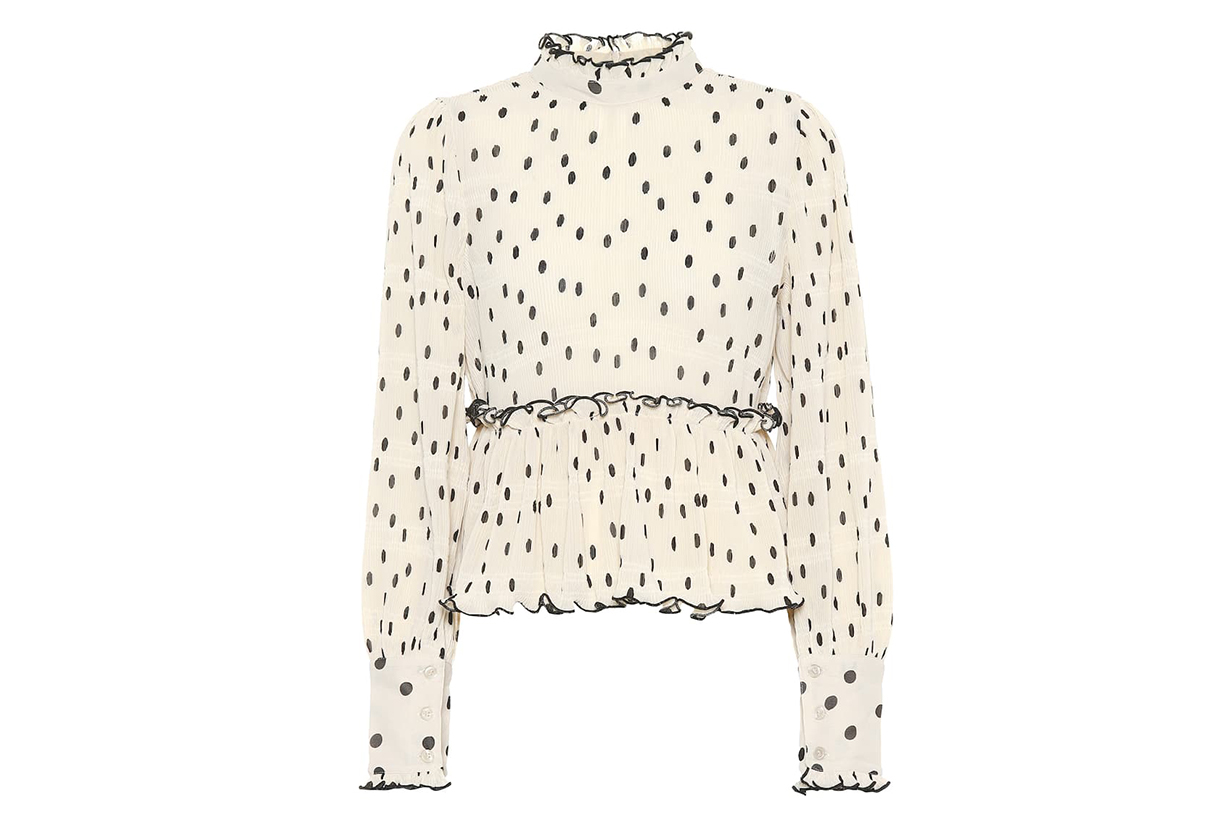 Dotted Georgette Blouse