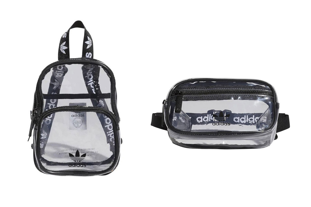 Adidas originals clear mini PVC backpack and waistpack