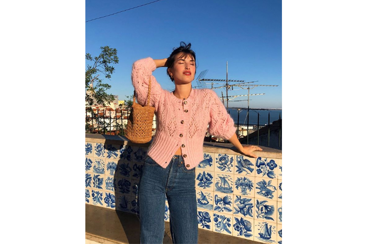 Cardigan Jeans French Style Jeanne Damas