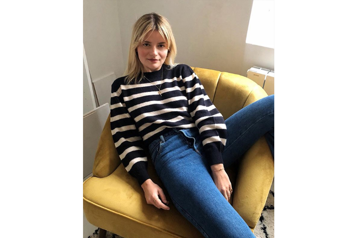Stripe Top Sweater Jeans French Style