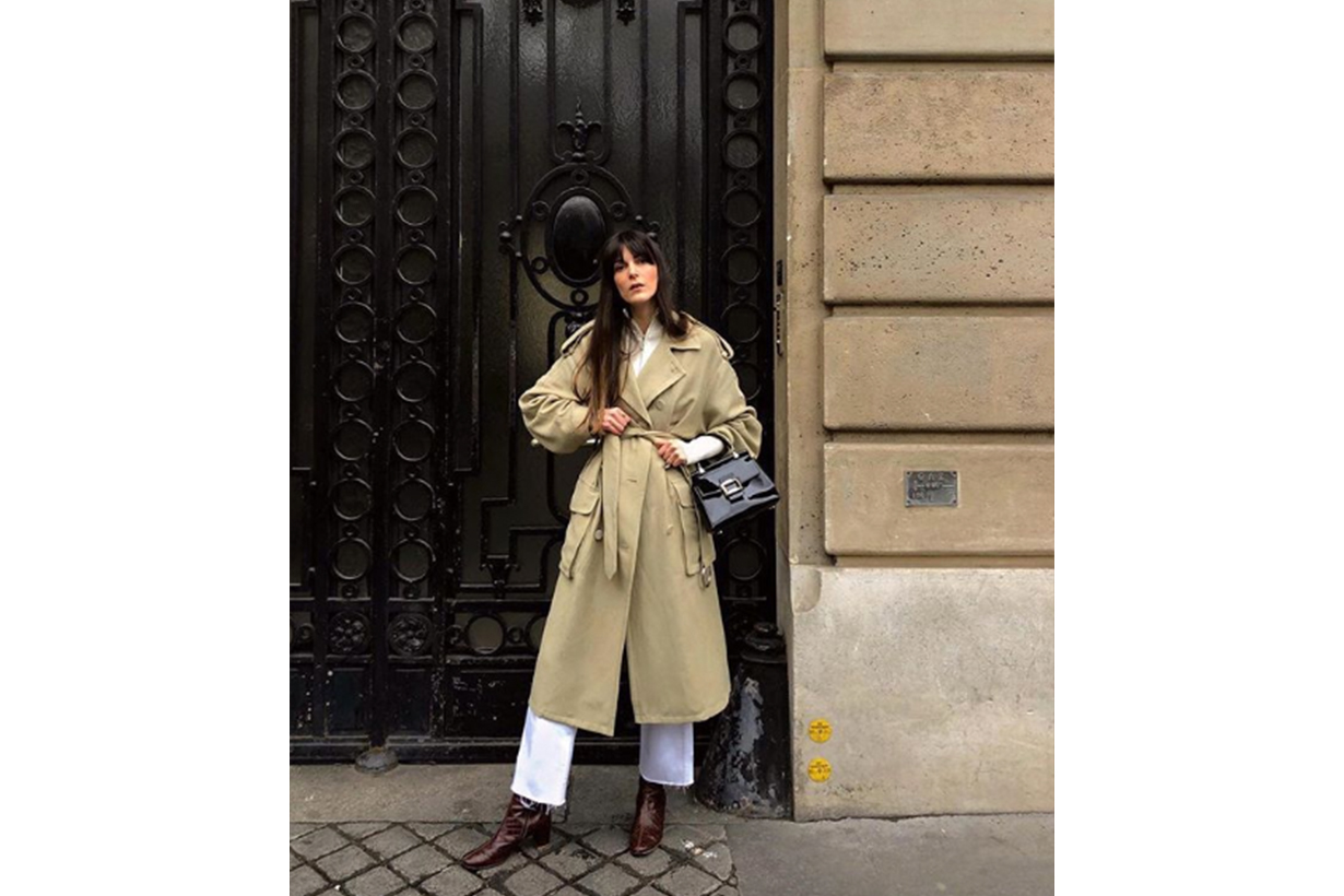 French Girl Blogger Trench Coat
