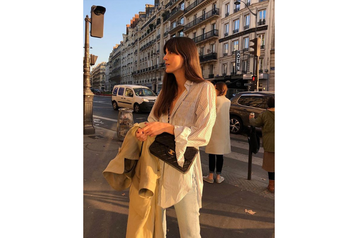 Trench Coat Boyfriend Shirt Chanel Bag French Style