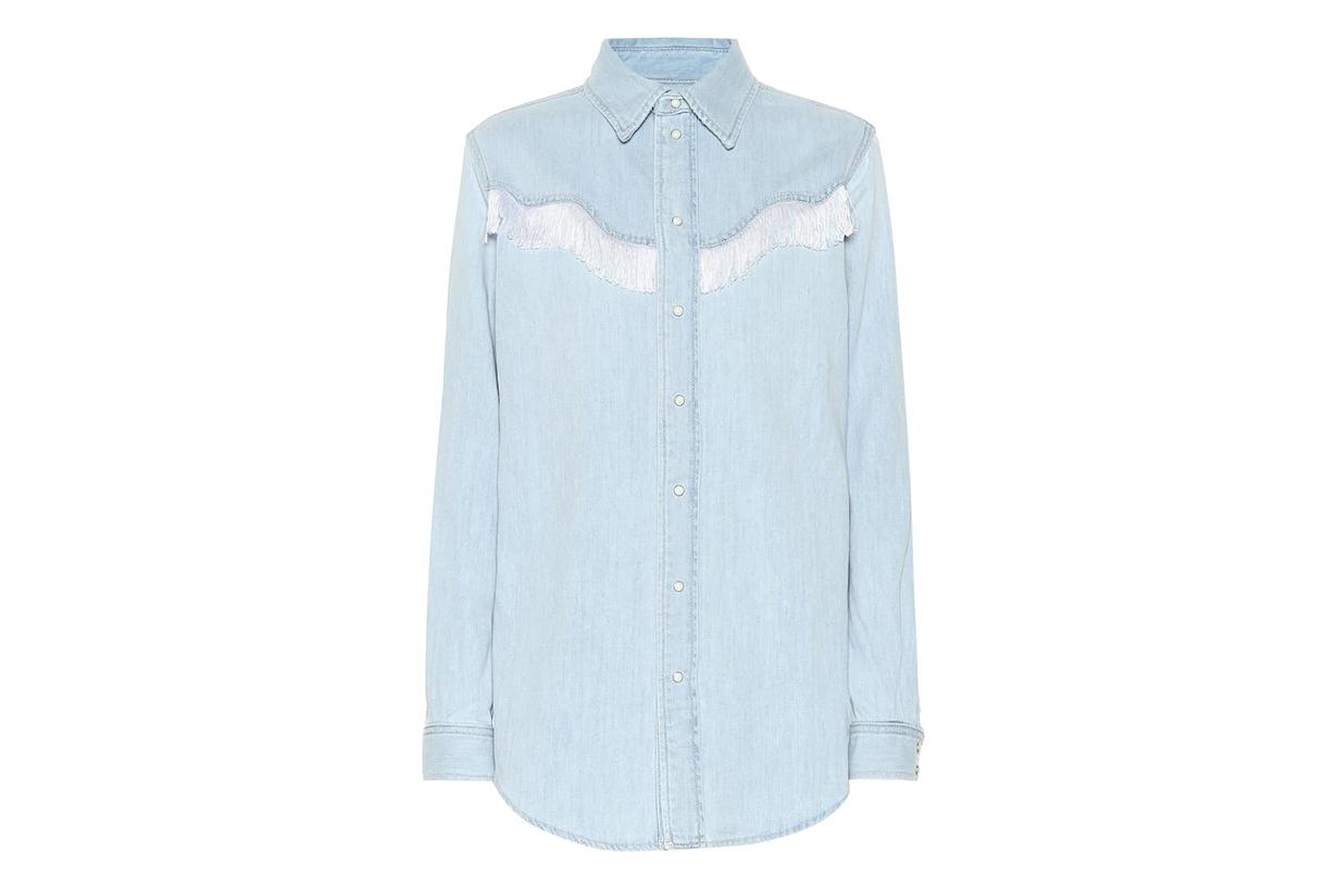 Fringed Denim Shirt