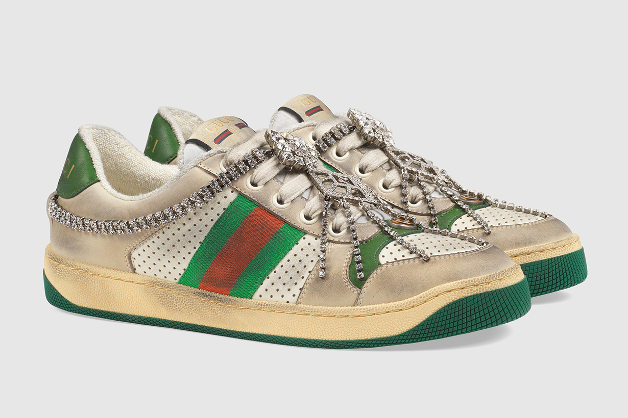 Gucci Dirty Screener sneaker with crystals