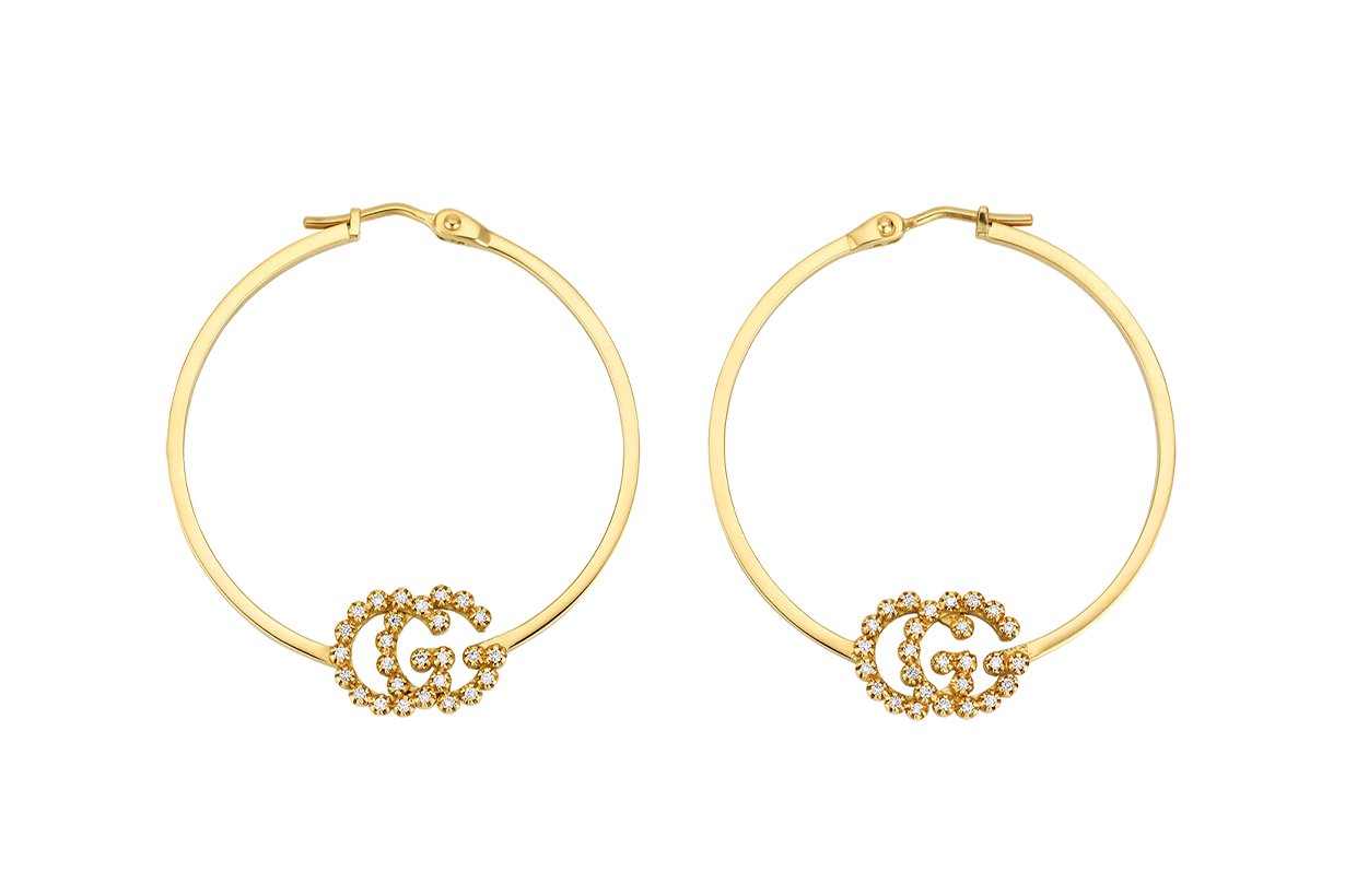 gucci gold hoop earring