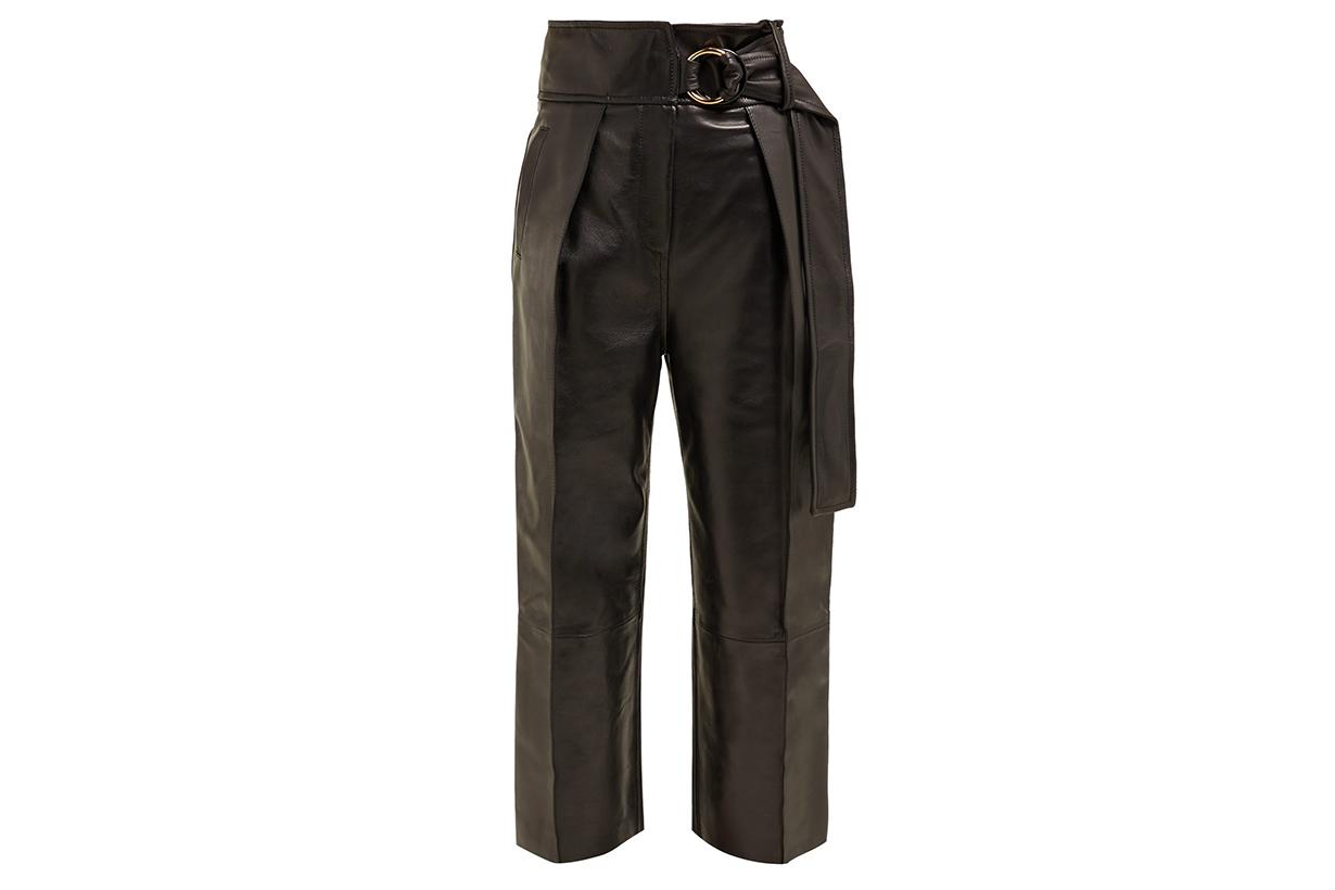 Petar Petrov Haena high-rise Leather Trousers