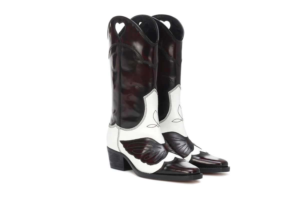 High Texas Leather Cowboy Boots