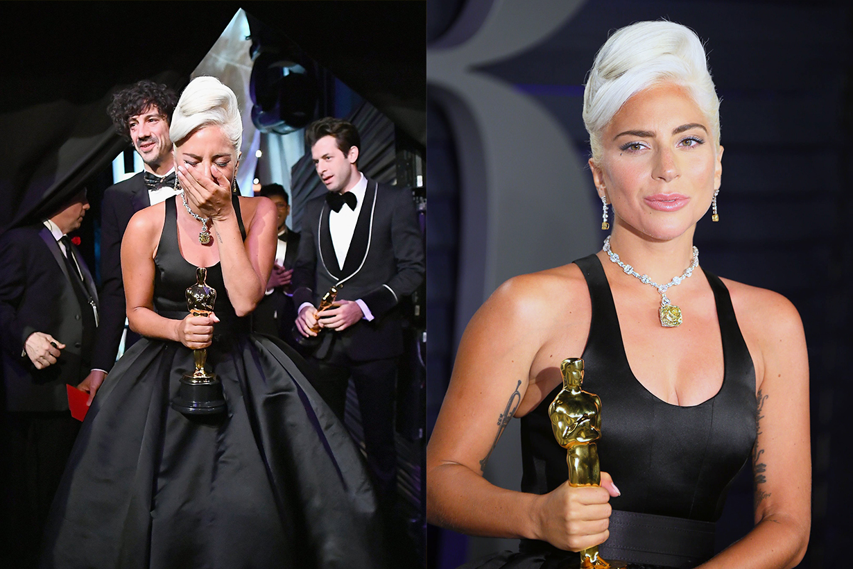 Lady Gaga first person win Oscars 2019 Grammy BAFTA Golden Globe same year A Star Is Born Shallow Bradley Cooper New York University Facebook Group Stefani Germanotta, you'll never be famous