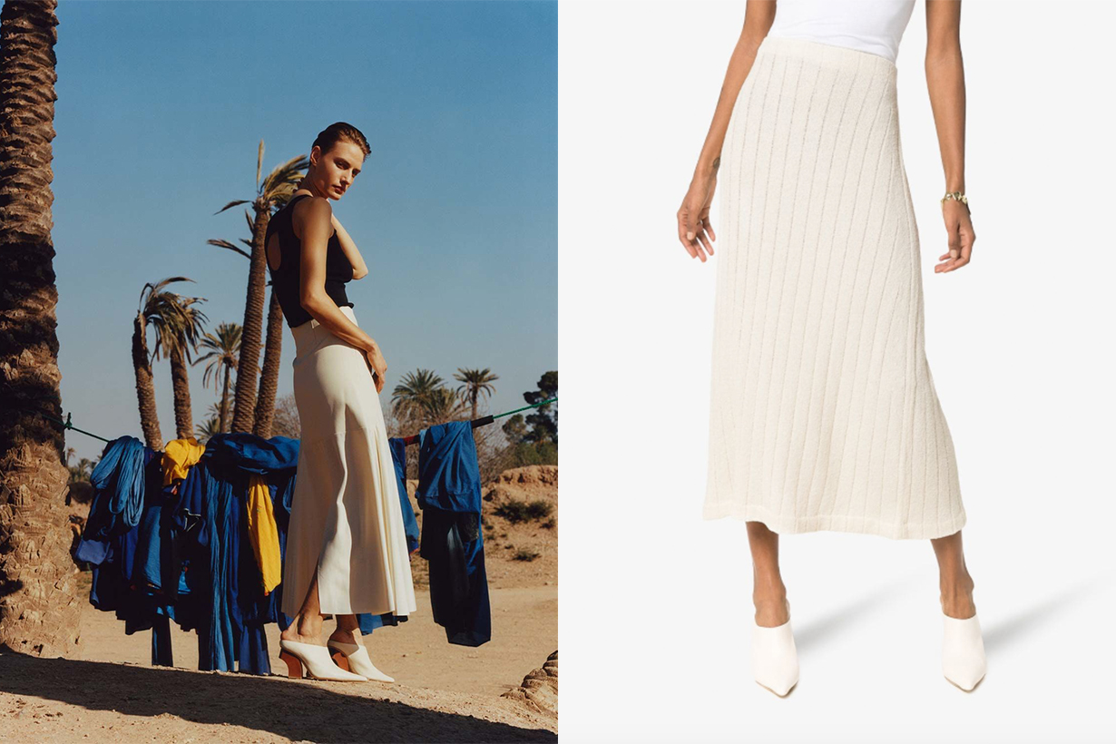 Jil Sander High-Waisted Ribbed Knit Skirt