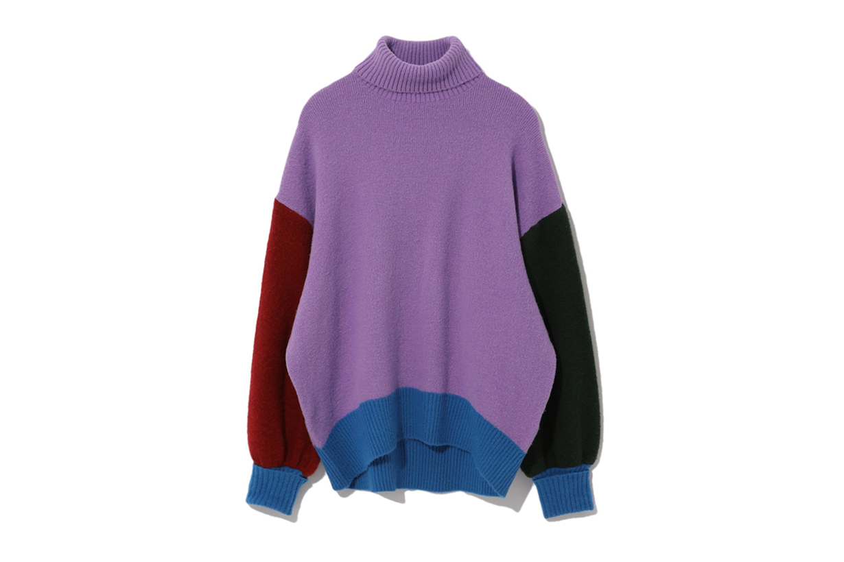 jouetie Contrast Trim Turtleneck Sweater
