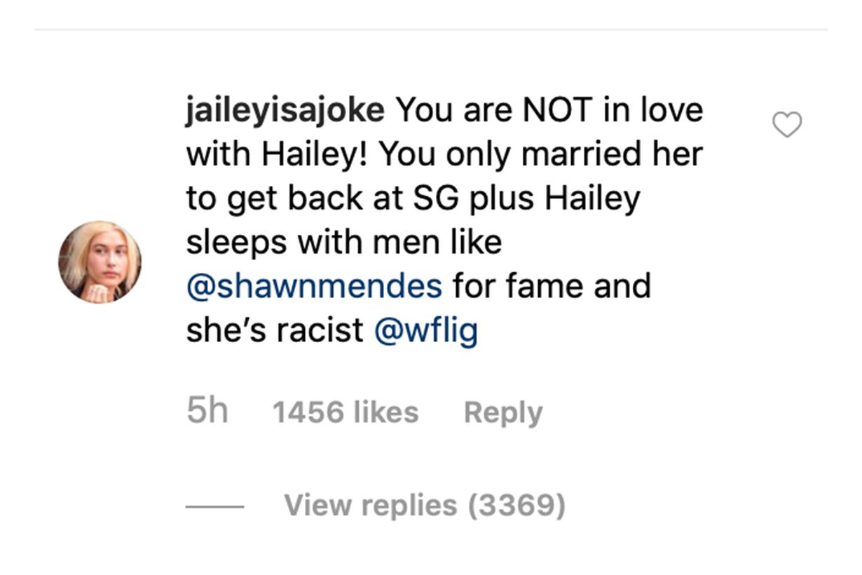 Justin Bieber Fans Comments Hailey Baldwin