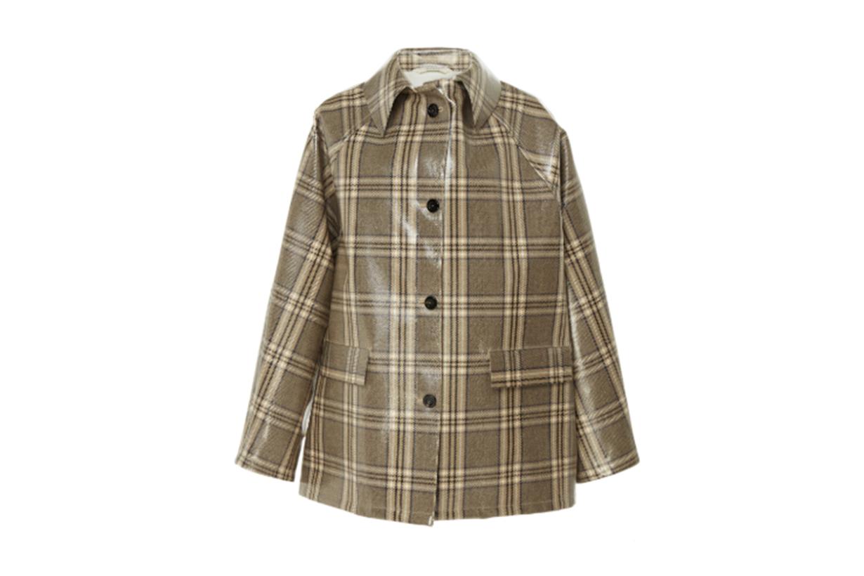 Kassl Coated Check Short Wool-Blend Jacket