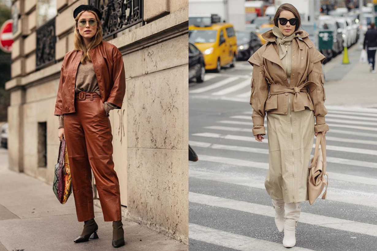 Head To Toe Leather Outfits Street Style