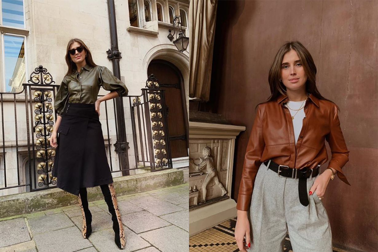 Leather Shirt street style trend 2019