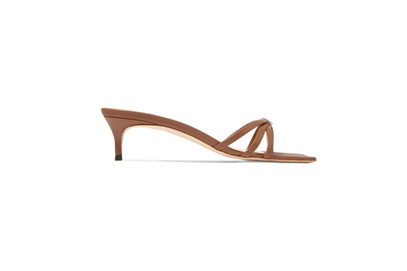 By Far Libra Leather Mules