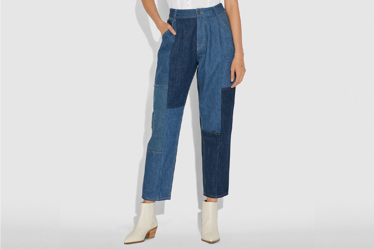 Coach denim trousers