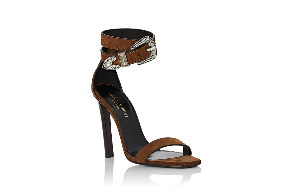 Mica Suede Ankle-Strap Sandals