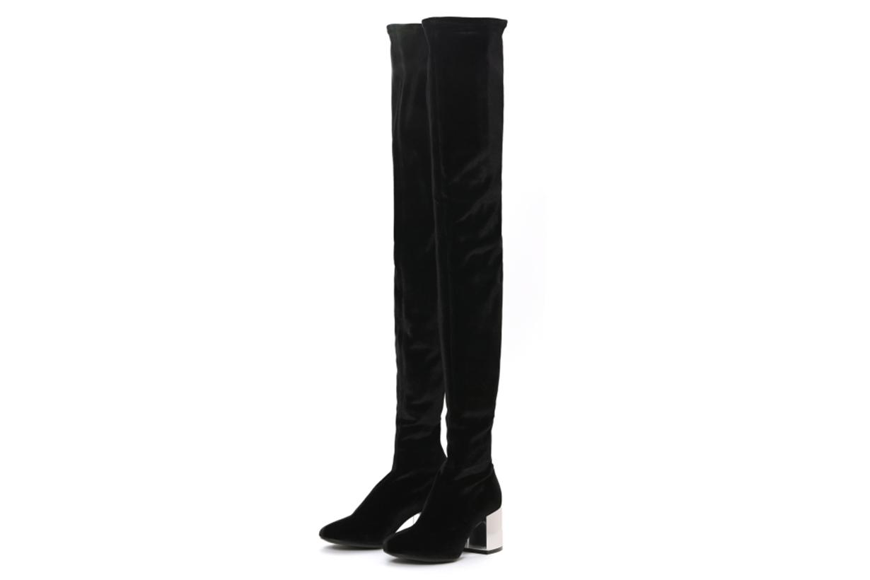 MM6 Over-The-Knee Mirrored Heel Boots