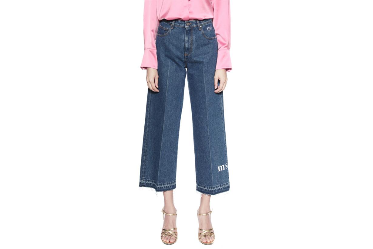 MSGM Frayed Crop Jeans