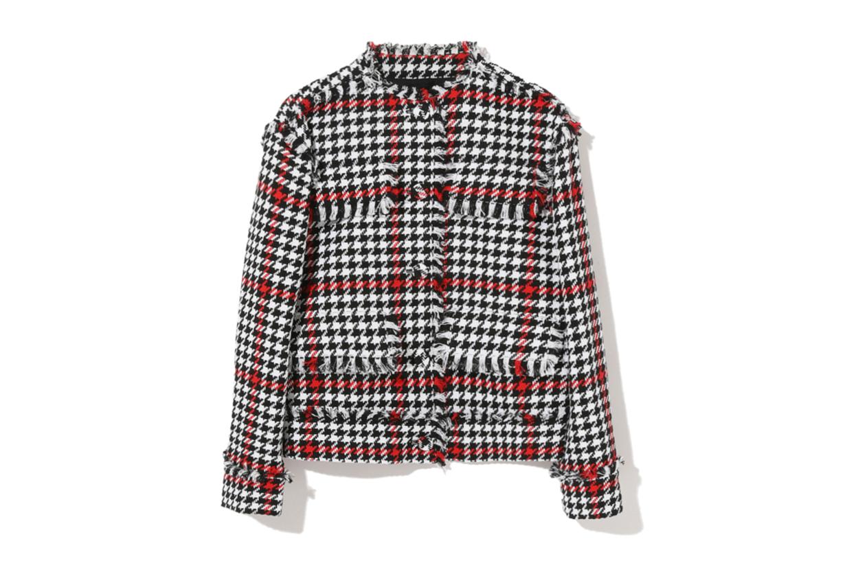 MSGM Houndstooth Tweed Jacket