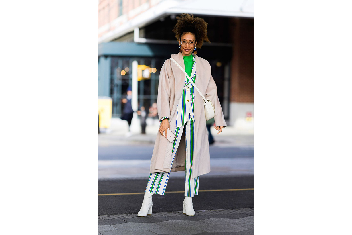 Coat Suit Turtleneck Street Style
