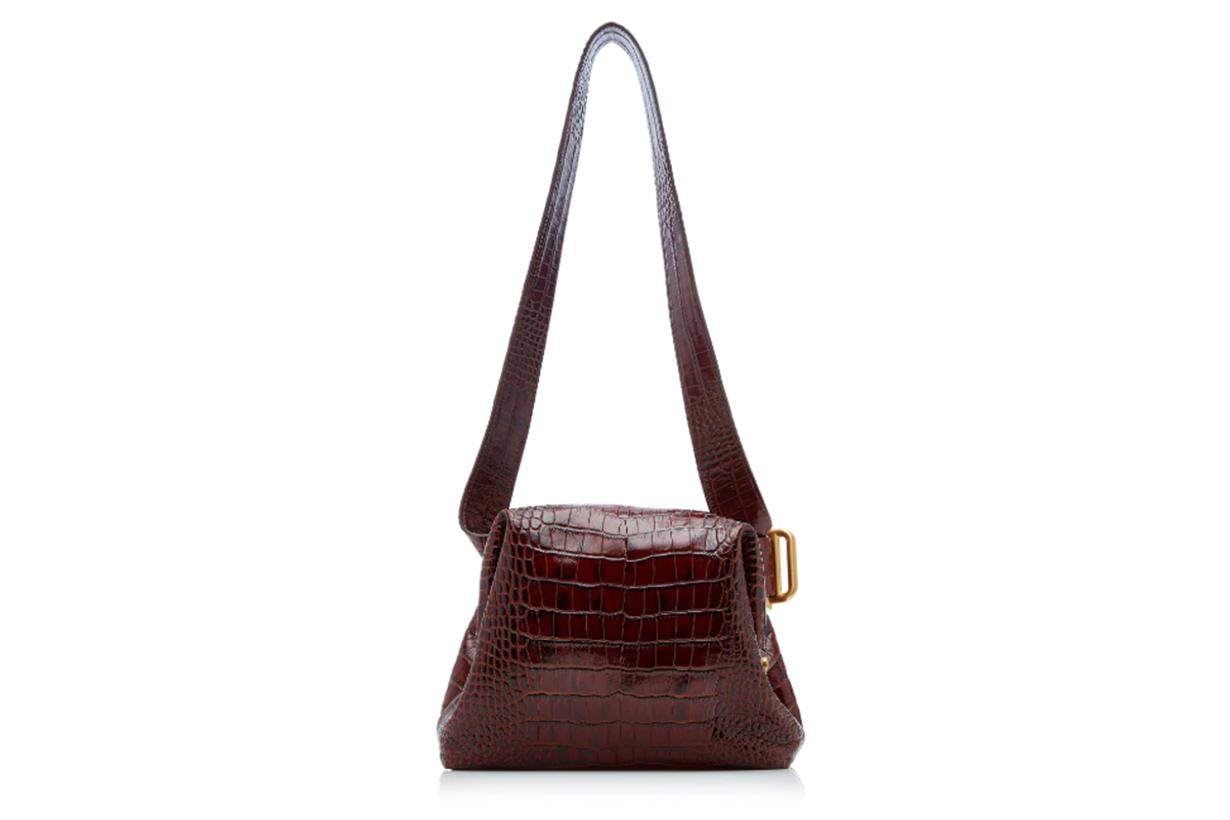 OSOI Mini Brot Croc Effect Leather Bag
