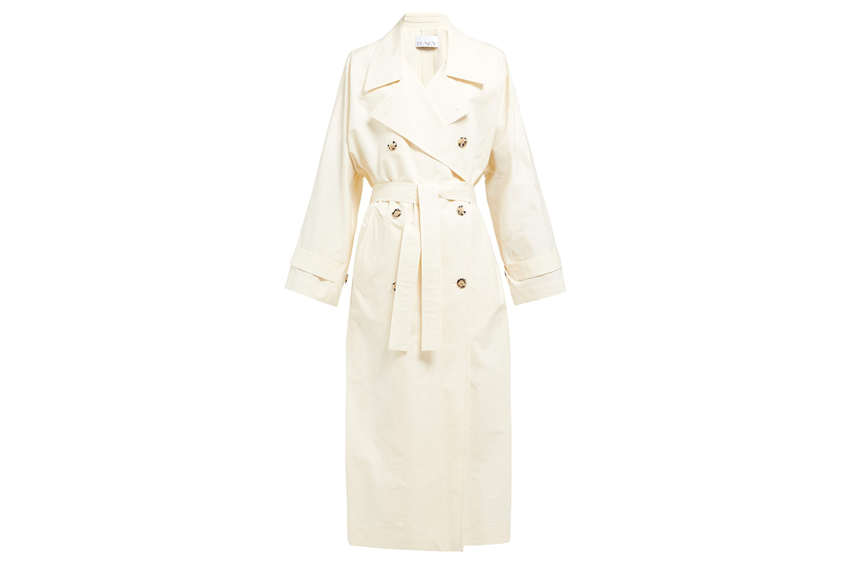 Raey Papery Cotton-Blend Long Trench Coat