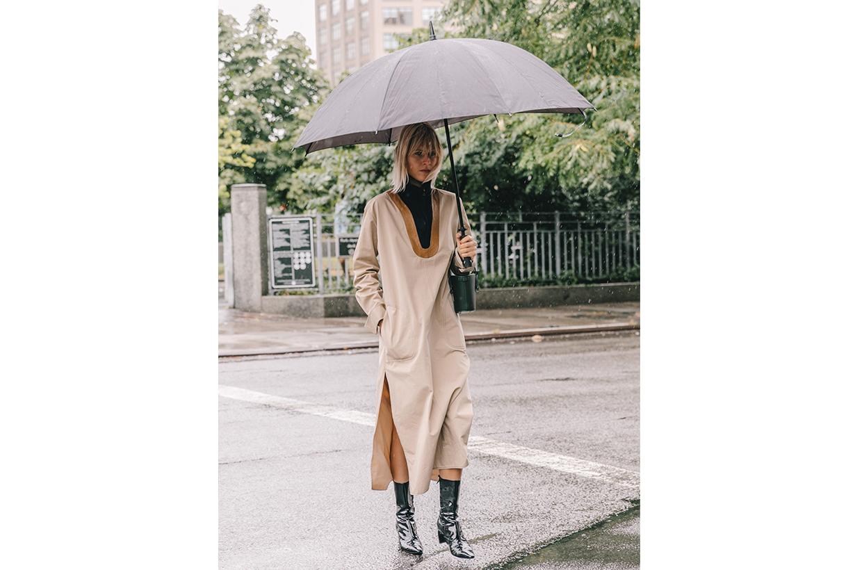 Rainy New York Fashion Week Umbrella Street Style