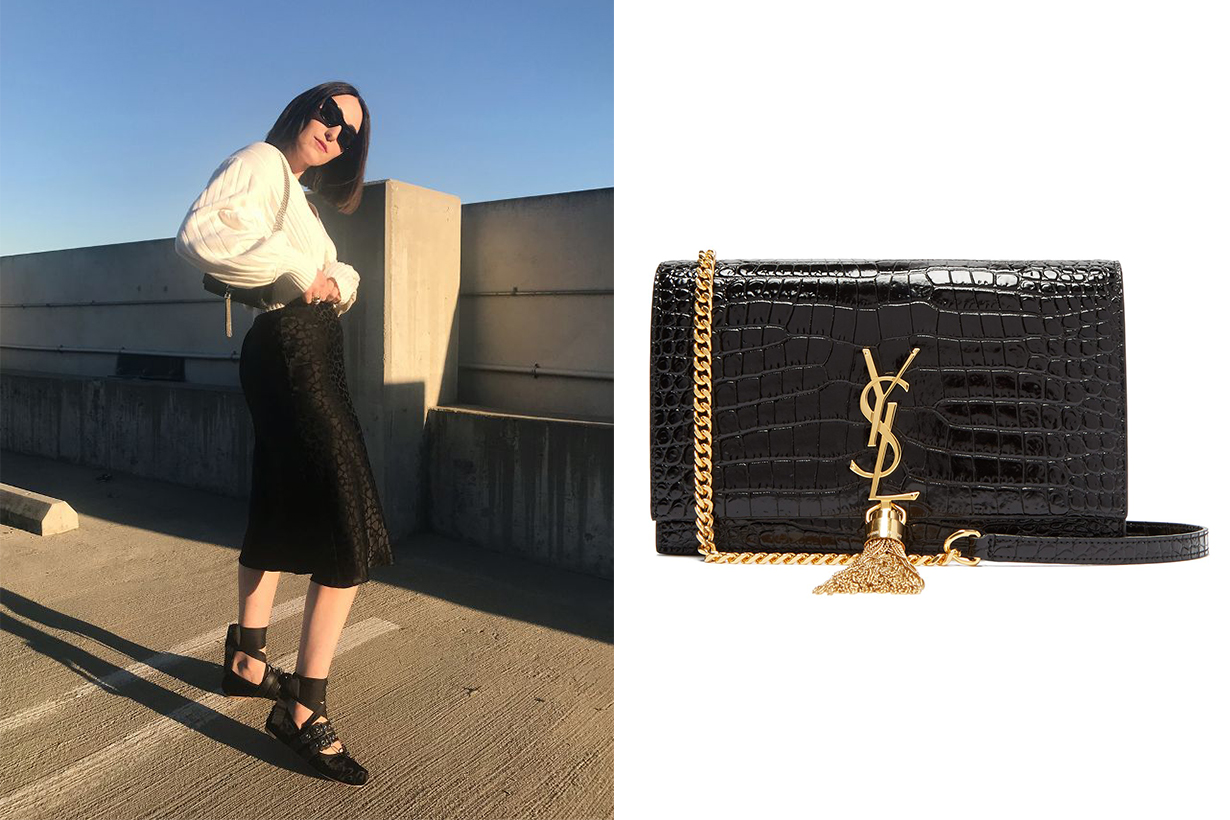 Saint Laurent Monogram Kate Tassel Chain Wallet