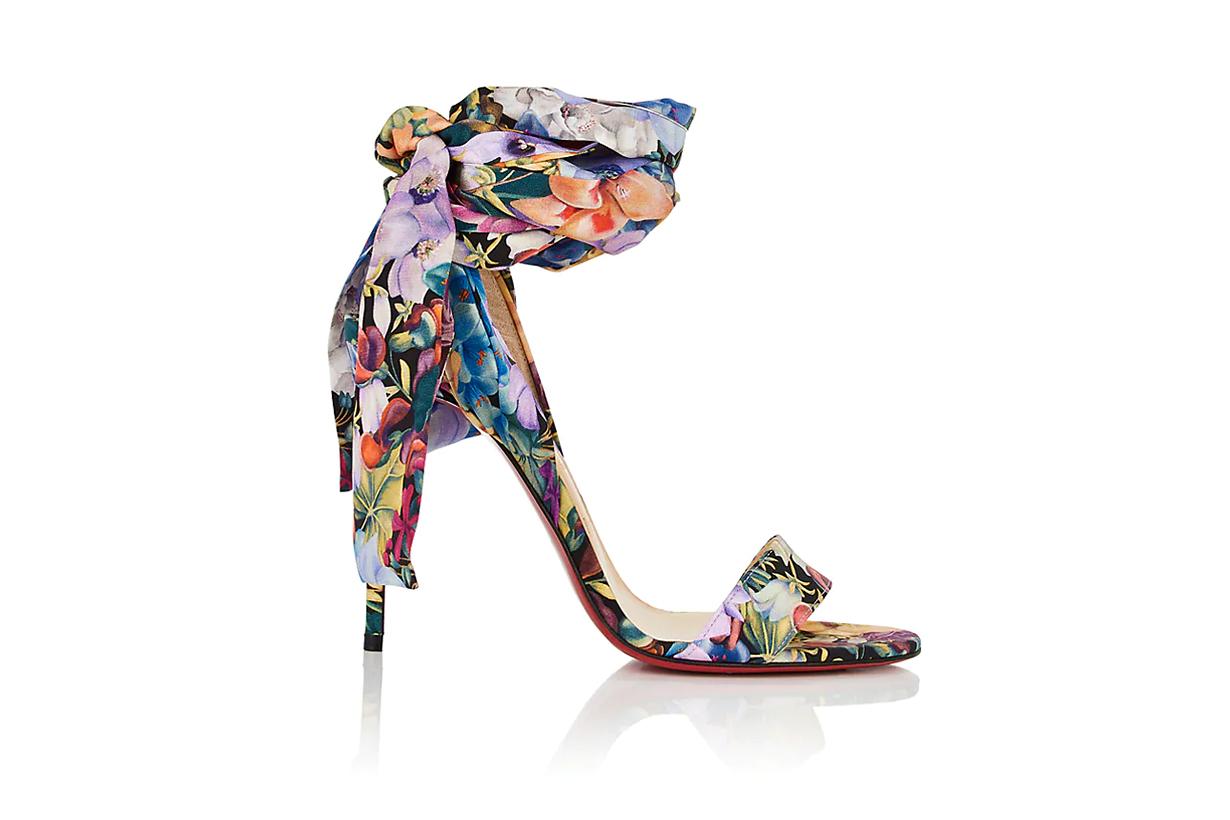 """""""Sandale Du Desert"""" Floral Crepe Sandals"""