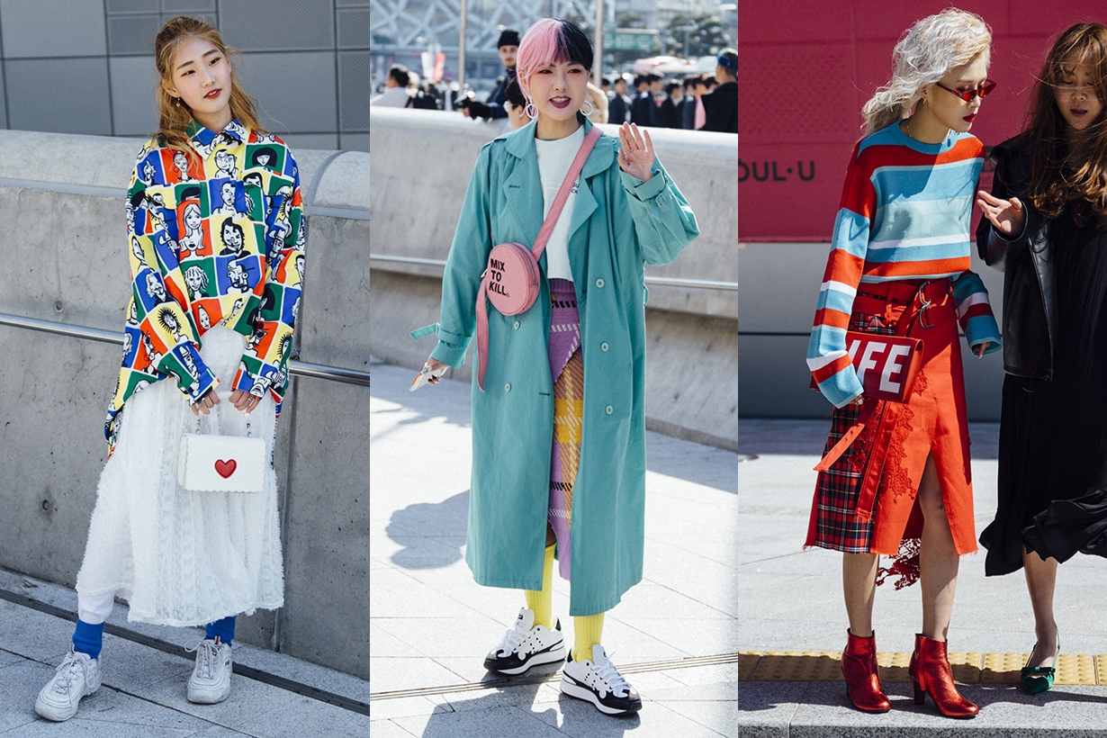 Korean Girl Colourful Outfits Street Style