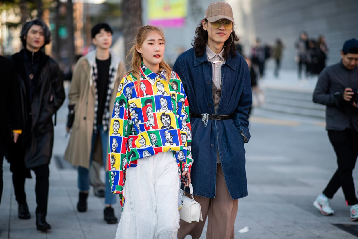 Pop Art Pattern Shirt Korean Street Style