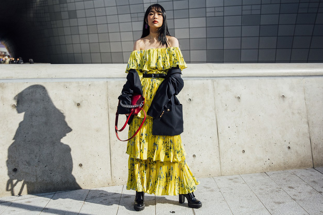 Korean Fashion Girl High Heels Dress Street Style