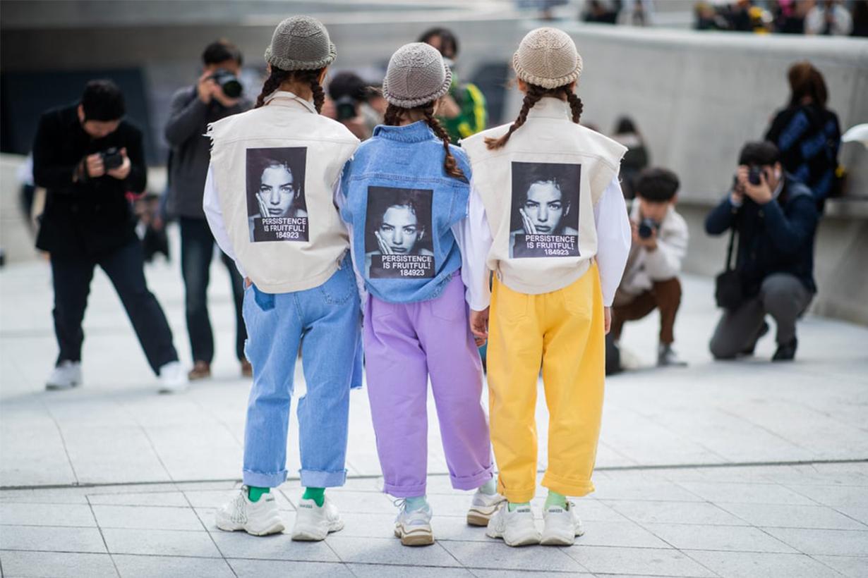 Korean Girls Printed Jacket Street Style