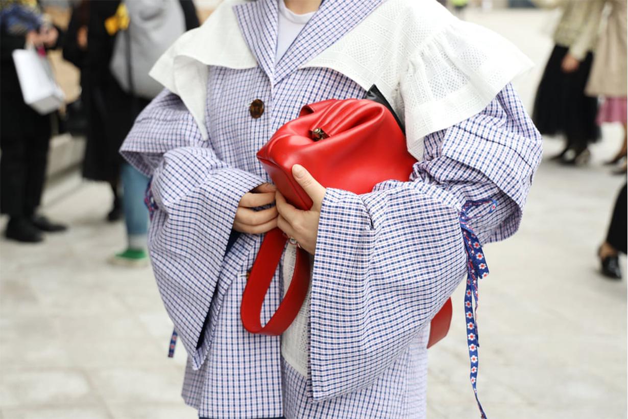 Lavender Dress Case Bag Street Style